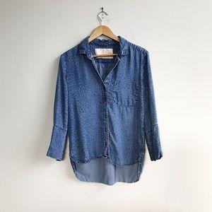 Bella Dahl : Chambray Button Up Size Medium